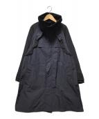 ()の古着「フリル付スプリングコート」|ネイビー