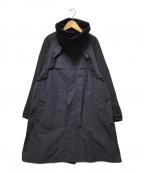 MUVEIL()の古着「フリル付スプリングコート」|ネイビー