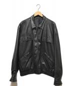 ()の古着「レザーブルゾン」|ブラック