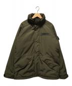 ()の古着「中綿フィールドジャケット」|カーキ