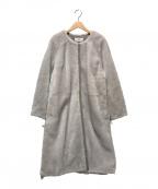 MOTOMACHI Zelal(モトマチゼラール)の古着「ノーカラームートンコート」|ピンク