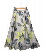 ()の古着「メッシュフラワープリントスカート」|ホワイトイエロー