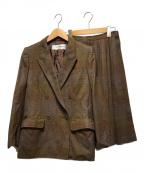 Yves Saint Laurent(イヴサンローラン)の古着「スカートセットアップ」 ブラウン
