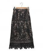 JUSGLITTY()の古着「レースロングタイトスカート」|ブラック