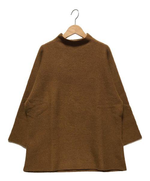 DEMYLEE(デミリー)DEMYLEE (デミリー) ボトルネックカシミヤニット ブラウン サイズ:Sの古着・服飾アイテム