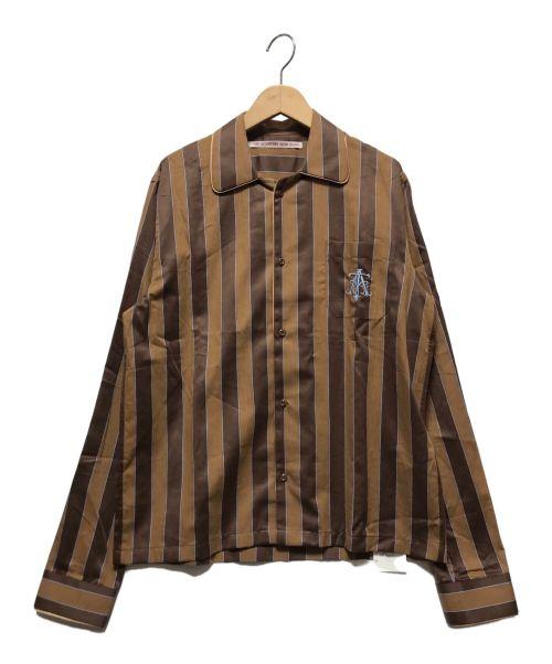 THE ACADEMY NEW YORK(ザアカデミーニューヨーク)THE ACADEMY NEW YORK (ザアカデミーニューヨーク) ALL DAYパジャマシャツ ブラウン サイズ:FREEの古着・服飾アイテム