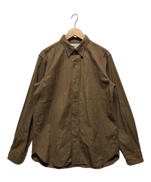 YAECA(ヤエカ)YAECA (ヤエカ) ボタンダウンシャツ ブラウン サイズ:Mの古着・服飾アイテム