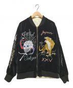 NEIGHBORHOOD()の古着「リバーシブルスーベニアジャケット」|ブラック×ホワイト