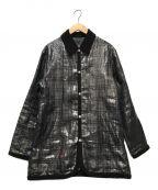 BURBERRY BLACK LABEL()の古着「チェック柄シースルーコート」|ブラック