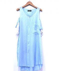 MIYAO(ミヤオ)の古着「レース切替キュプラワンピ」|ブルー