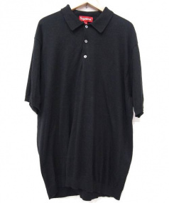 SUPREME(シュプリーム)の古着「ニットポロシャツ」|ブラック