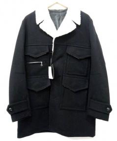 NUMBER (N)INE(ナンバーナイン)の古着「Boa Long Jacket」 ブラック
