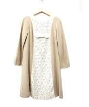 MS GRACY(エムズグレイシー)の古着「ウールリボンワンピース」|アイボリー×ベージュ
