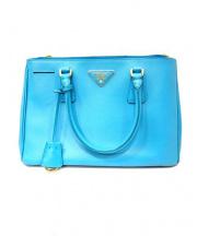 PRADA(プラダ)の古着「SAFFIANO LUX 2WAY BAG」|ブルー