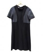 MARNI(マルニ)の古着「S/Sウールワンピース」|ブラック×グレー