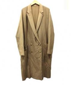 MUSE de DEUXIEME CLASSE(ミューズ ドゥーズィエム クラス)の古着「バランサロングジャケット」 ベージュ