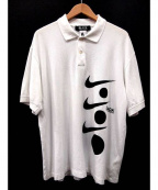 BLACK COMME des GARCONS×NIKE(ブラックコムデギャルソン×ナイキ)の古着「スゥッシュロゴポロシャツ」|ホワイト×ブラック