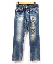 HYSTERIC MINI(ヒステリックミニ)の古着「スタッズデニムパンツ」|ブルー