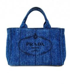 PRADA(プラダ)の古着「デニムカナパトートバッグ」 インディゴ