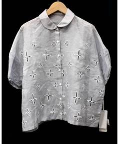 mina perhonen(ミナペルフォネン)の古着「wild starブラウス」|グレー