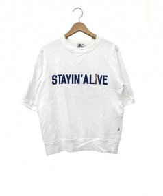Hysteric Glamour(ヒステリックグラマー)の古着「STAYINALIVE SWEAT」|ホワイト