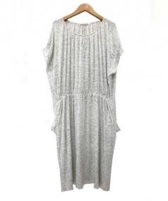 mina perhonen(ミナペルフォネン)の古着「treasureカットソードレス」 グレー