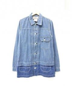 REMI RELIEF(レミレリーフ)の古着「デニム1st×カバーオールハーフコート」|ブルー
