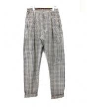 LEMAIRE(ルメール)の古着「シアサッカーイージーパンツ」 ベージュ×ブラウン