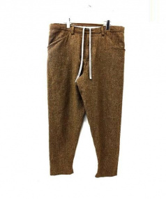 SUNSEA(サンシー)の古着「Mix CHIDORI Check Pants」 ブラウン