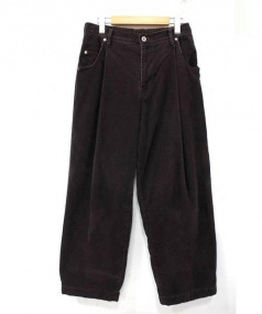 NEON SIGN×LANTIKI(ネオンサイン×ランチキ)の古着「別注Wide Corduroy Pants」 パープル