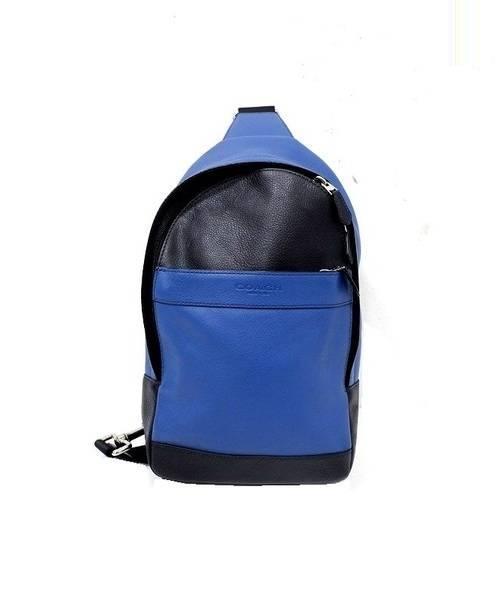 f26023c25707 ... バッグ ブルー×ブラック キャンパスパックスムースレザーワンショルダー. COACH