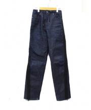 DIESEL BLACK GOLD(ディーゼル ブラック ゴールド)の古着「サイロラインジップデニムパンツ」|インディゴ