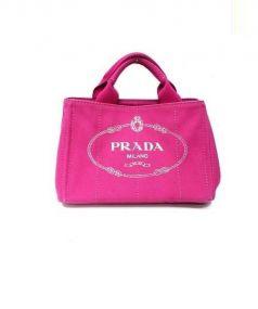 PRADA(プラダ)の古着「カナパ2WAYハンドバッグ」 ピンク