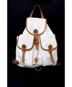 IL BISONTE(イルビゾンテ)の古着「CANVAS BAG」|ホワイト×ブラウン