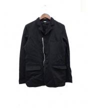 COMME des GARCONS HOMME DEUX(コムデギャルソンオムデュー)の古着「ポリ縮絨ジャケット」 ブラック