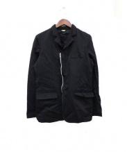 COMME des GARCONS HOMME DEUX(コムデギャルソンオムデュー)の古着「ポリ縮絨ジャケット」|ブラック