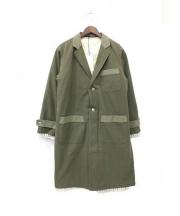 FOH.×FACTOTUM(エフオーエイチ×ファクトタム)の古着「ハンプショップコート」 オリーブ
