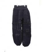 LABRAT(ラブラット)の古着「Crust Knit Pants」|ブラック