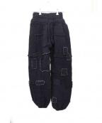 LABRAT(ラブラット)の古着「Crust Knit Pants」 ブラック