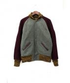 SKOOKUM×BEAVER(スクーカム×ビーバー)の古着「メルトンアワードジャケット」|ボルドー×カーキ