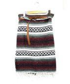 77circa(ナナナナサーカ)の古着「メキシカンラグスカート」|レッド×ホワイト