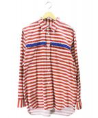 COMME des GARCONS HOMME PLUS(コムデギャルソンオムプリュス)の古着「ボーダーL/Sシャツ」|グレー×レッド