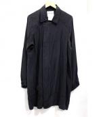 STEPHAN SCHNEIDER(ステファン・シュナイダ)の古着「シルク100%ステンカラーコート」|グレー