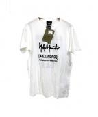 YohjiYamamoto pour homme × ALEXANDROS(ヨウジヤマモト プルーオム アレキサンドロス)の古着「Tシャツ」 ホワイト