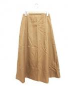 unfil(アンフィル)の古着「ペルビアンウールサージミディスカート」|ベージュ