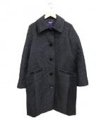 SONIA RYKIEL(ソニアリキエル)の古着「切替ステンカラーコート」|ブラック