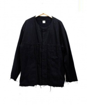SASQUATCHfabrix.(サスクワァッチファブリックス)の古着「デニムビッグシャツ -3rdタイプ-」|ブラック