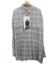 gourmet jeans.(グルメジーンズ)の古着「シャツ(レーヨン)」|グレー