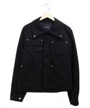 ALMOSTBLACK(オールモストブラック)の古着「ブラックデニムジャケット」|ブラック