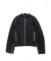 ALMOSTBLACK(オールモストブラック)の古着「シングルライダースジャケット」|ブラック